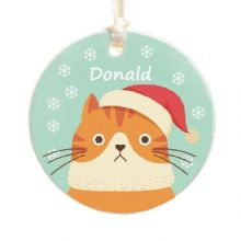 Cat Christmas Tree Decoration - Choice of Breed - Cute Holiday Xmas Bauble or Gift for a Pet Lover